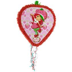 Strawberry Shortcake Shaped Pull-String Pinata