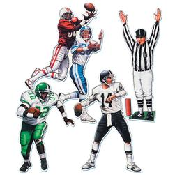 20'' Football Figure Cutouts (4 count)
