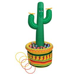 5' Inflatable Cactus Cooler/Ring Toss Game