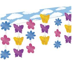 Butterfly and Flower Hanging Ceiling Decoration