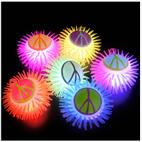 Light Up Peace Sign Puffer Yo-Yo Asst. (1 count)