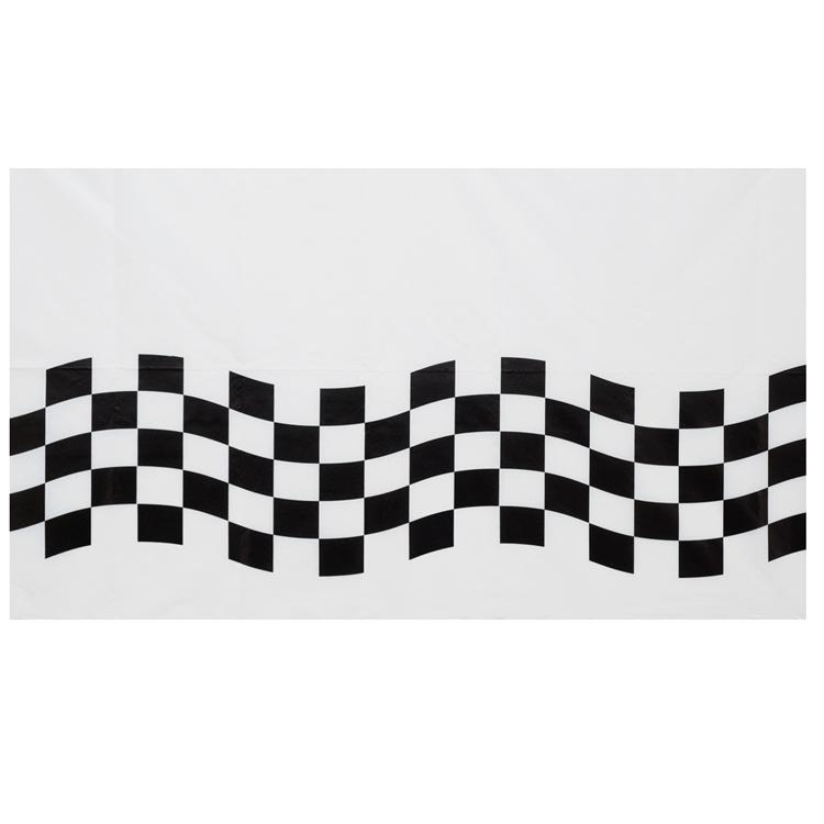 Black and White Check Paper Tablecover