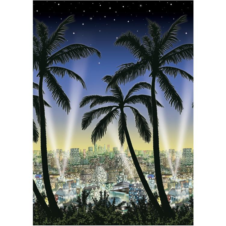 40' Hollywood City Scape Room Roll