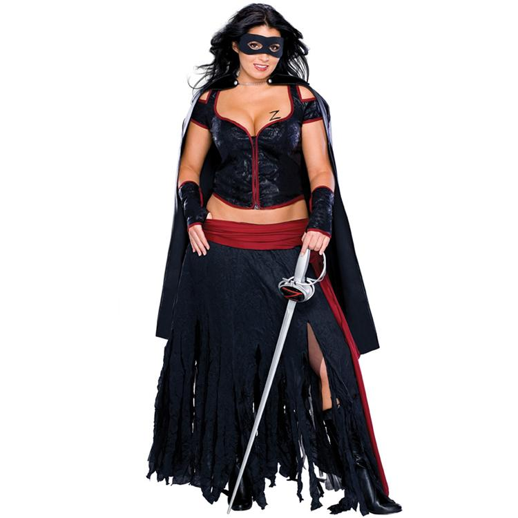 Lady Zorro Adult Plus Costume