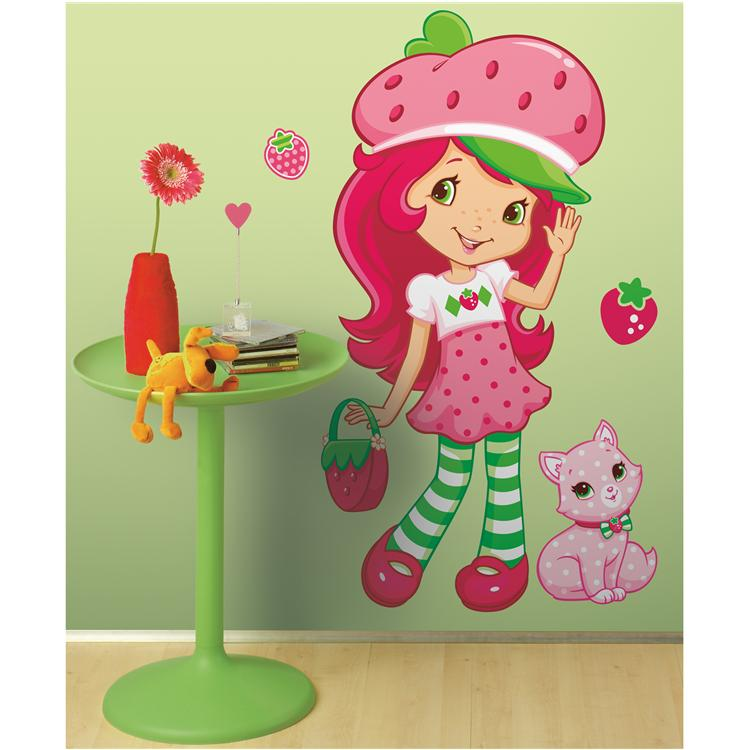 Strawberry Shortcake Peel & Stick - Scratch & Sniff - Giant  Wall Decal