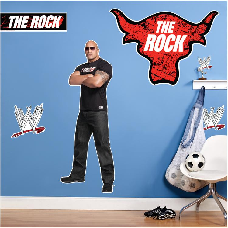 The Rock WWE Giant Wall Decals